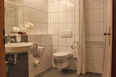 Behindertenfreundliches Bad im Hotel Deutsche Eiche Uelzen
