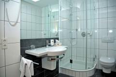 Badezimmer im Hotel Deutsche Eiche Uelzen