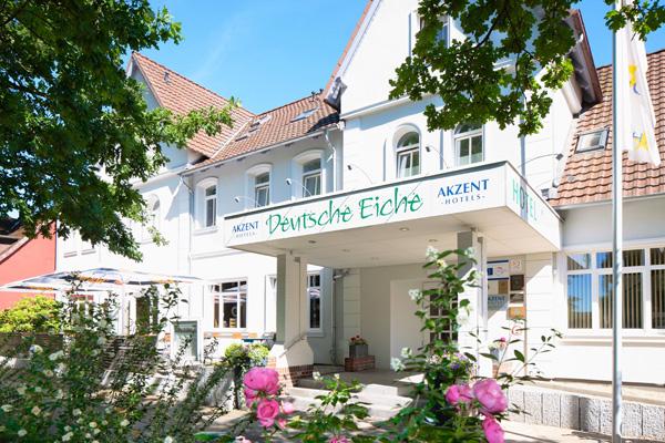 Eingang Akzent Hotel Deutsche Eiche in Uelzen