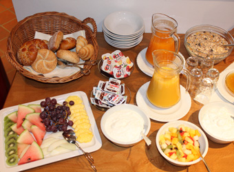 Breakfast on Sundays at Deutsche Eiche Hotel in Uelzen Germany